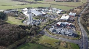 Aerial of Sci-Tech Daresbury science & innovation campus